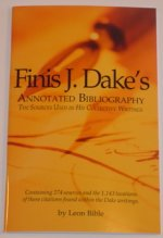 Finis Dake's Annotated Bibliography