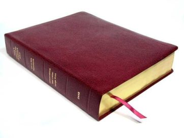 Dake Large Print Bible Bonded Leather Burgundy