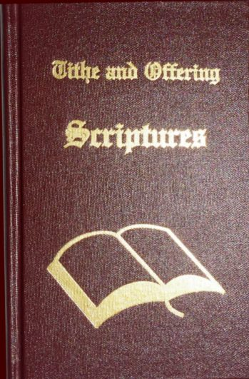 Tithe & Offering Scriptures by Leon Bible